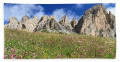Beach Sheet featuring the photograph Dolomiti - Flowered Meadow  by Antonio Scarpi