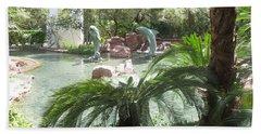 Beach Sheet featuring the photograph Dolphin Pond And Garden Green by Navin Joshi
