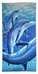 Dolphin Trio Beach Sheet