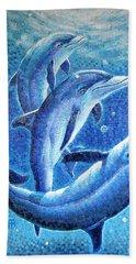 Dolphin Trio Beach Towel