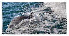 Dolphins Smile Beach Sheet