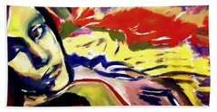 Beach Towel featuring the painting Don T Look Back by Helena Wierzbicki