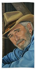 Don Williams Painting Beach Towel
