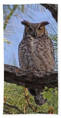 Beach Towel featuring the photograph Don't Mess With My Chicks #2 by Paul Rebmann