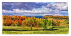 Door County Grand View Scenic Overlook Panorama Beach Towel