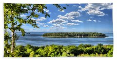 Door County Horseshoe Island Beach Towel