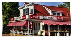 Door County Wilson's Ice Cream Store Beach Towel by Christopher Arndt