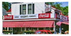 Door County Wilson's Restaurant And Ice Cream Parlor Beach Towel