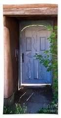 Beach Towel featuring the photograph Doors Of Santa Fe by Roselynne Broussard