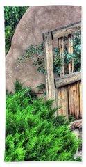 Door, Santuario De Chimayo Beach Towel