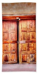 Doors To The Inner Santuario De Chimayo Beach Towel by Lanita Williams