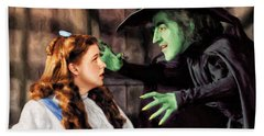 Dorothy And The Wicked Witch Beach Towel