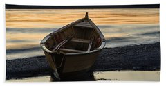 Beach Towel featuring the photograph Dory At Dawn by Marty Saccone