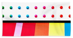 Dots And Stipes Beach Towel by Art Block Collections