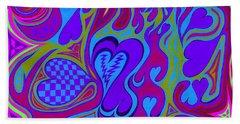 Double Broken Heart Beach Sheet