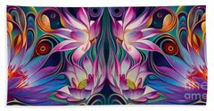 Double Floral Fantasy 2 Beach Towel