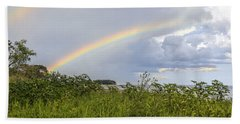 Double Rainbow Sheffield Island Beach Towel