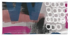 Double Ve- Abstract Painting Beach Towel