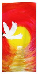 Dove Of Peace Beach Sheet
