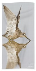 Dowitcher Wing Stretch Beach Towel by Bryan Keil