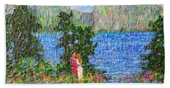 Down By The River Beach Towel