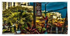 Down On Main Street Beach Towel