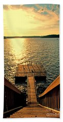 Down To The Fishing Dock - Lake Of The Ozarks Mo Beach Towel by Debbie Portwood