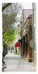 Downtown Aiken South Carolina Beach Towel by Andrea Anderegg