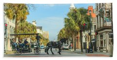 Downtown Charleston Stroll Beach Towel