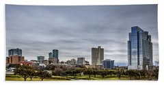 Downtown Fort Worth Trinity Trail Beach Towel