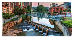 Downtown Greenville On The River Beach Towel