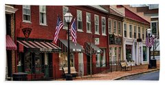 Downtown Jonesborough Tn Beach Towel