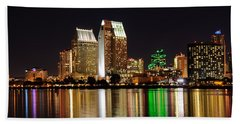 Downtown San Diego Beach Towel by Gandz Photography