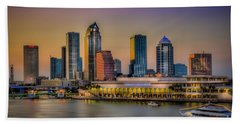 Downtown Tampa Beach Towel