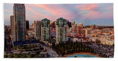 Beach Towel featuring the photograph Downtown View San Diego by Heidi Smith