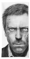 Dr. Gregory House - House Md Beach Sheet by Olga Shvartsur