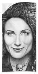 Dr. Lisa Cuddy - House Md Beach Towel by Olga Shvartsur