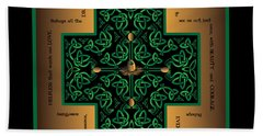 Dragon Egg Celtic Cross Beach Sheet