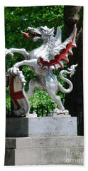 Dragon With St George Shield Beach Towel