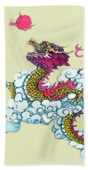 Dragon Beach Towel by Yufeng Wang