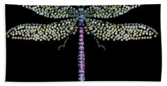 Dragonfly Bedazzled Beach Towel