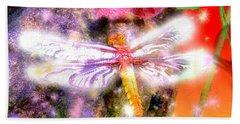 Beach Towel featuring the digital art Dragonfly by Daniel Janda