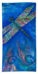 Dragonfly Flying High Beach Towel by Denise Hoag