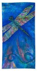 Dragonfly Flying High Beach Towel