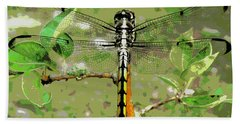 Dragonfly Pastel Beach Towel