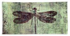 Dragonfly Beach Towel by Priska Wettstein