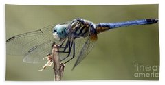 Dragonfly Smile Beach Towel