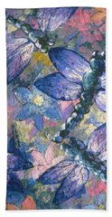 Beach Towel featuring the painting Dragons  by Megan Walsh