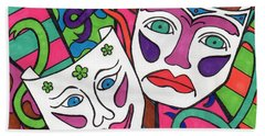 Drama Masks Beach Towel