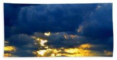 Dramatic Clouds Beach Towel